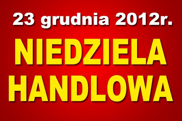 23 grudnia 2012 handlowa niedziela na praskiej giełdzie